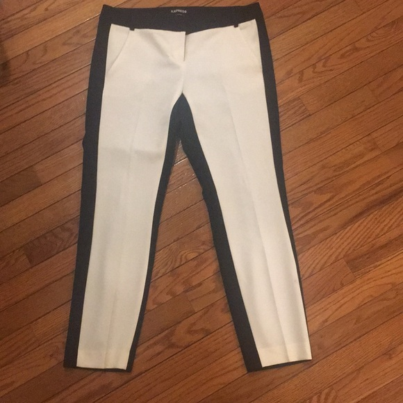 Express Pants - Express: two tone zip front trouser